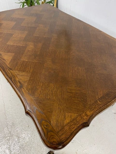 SOLD - Oak Provençal Style Extending French Dining Table - EB11